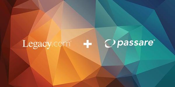 Legacy.com plus Passare graphic