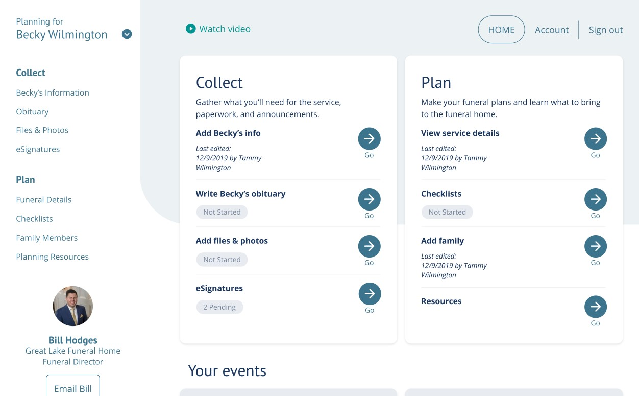 Planning-Center home page screenshot