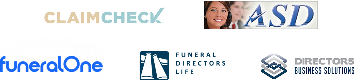 passare partner logos including claimcheck, Answering Service for Directors, funeralOne, Funeral Directors Life, Directors Business Solutions
