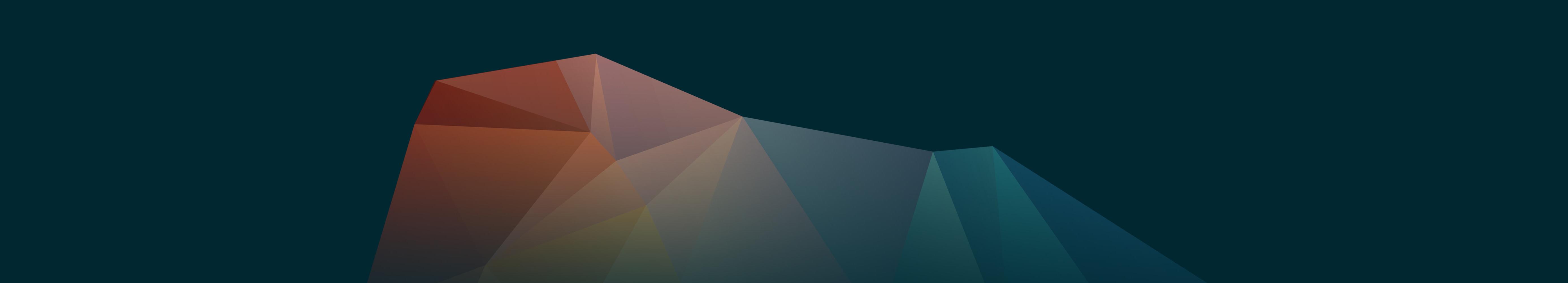 multi-colored mountain prism